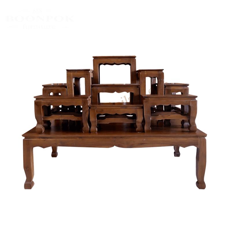 โต๊ะหมู่บูชาไม้สัก9X7