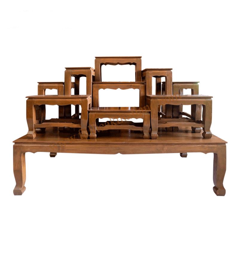 โต๊ะหมู่บูชาไม้สัก9×9