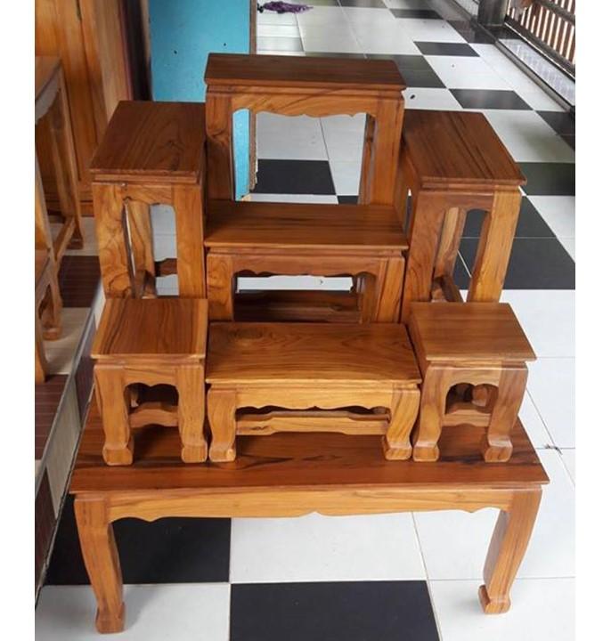 รีวิวโต๊ะหมู่บูชาไม้สัก