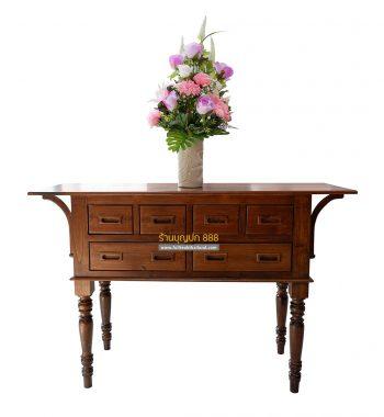 โต๊ะลิ้นชักไม้