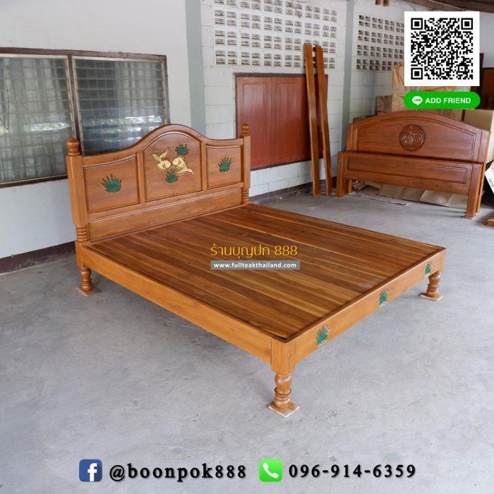 เตียงไม้สักสวยๆ